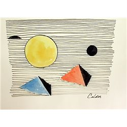 Original Watercolor by Calder