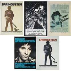 "5 Bruce Springsteen ""The Boss"" Repro Concert Posters"