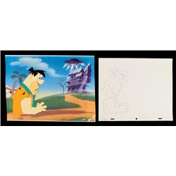Fred Animation Drawing Art Flintstones Original Cel
