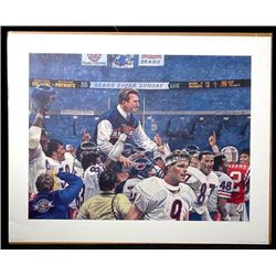 1985 Bears Super Bowl Champs Ditka Art Print Football