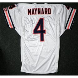 "Brad Maynard Signed Bears Game Jersey ""Go Bears!"""
