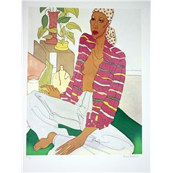 Janopoulous Hand Signed and Numbered Serigraph - Reggae Woman