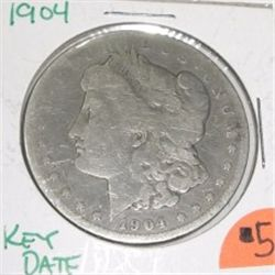 1904 Morgan SILVER Dollar *RARE KEY DATE PLEASE LOOK AT PICTURE TO DETERMINE GRADE - NICE COIN*!!