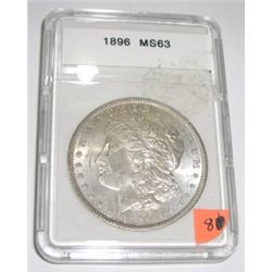 1896 Morgan SILVER Dollar *RARE MS-63 HIGH GRADE - NICE COIN*!!