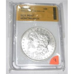 1900-P Morgan Silver Dollar *RARE MS67 CERTIFIED BY SGS* Serial #662067900.05131!!
