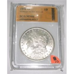 1898-O Morgan Silver Dollar *RARE MS-66 CERTIFIED BY SGS* Serial #660066898.05313!! Coin comes with