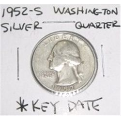 1952-S Washington Silver Quarter *RARE KEY DATE - PLEASE LOOK AT PICTURE TO DETERMINE GRADE *