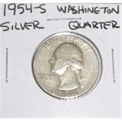 1954-S Washington Silver Quarter *PLEASE LOOK AT PICTURE TO DETERMINE GRADE - NICE COIN*!!