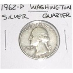 1962-D Washington Silver Quarter *PLEASE LOOK AT PICTURE TO DETERMINE GRADE - NICE COIN*!!