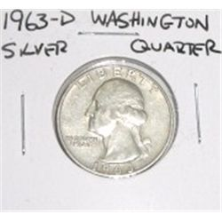 1963-D Washington Silver Quarter *PLEASE LOOK AT PICTURE TO DETERMINE GRADE - NICE COIN*!!