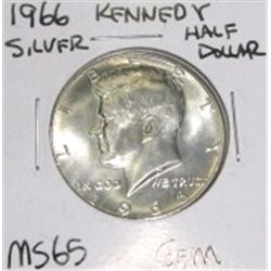 1966 Kennedy Silver Half Dollar *RARE MS-65 GEM HIGH GRADE - NICE COIN*!!