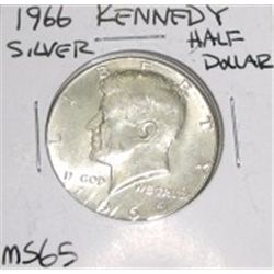 1966 Kennedy Silver Half Dollar *RARE MS-65 HIGH GRADE - NICE COIN*!!