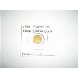 1748 FERDINAD VI Spanish GOLD Coin *EXTREMELY RARE SPANISH GOLD COIN*!!