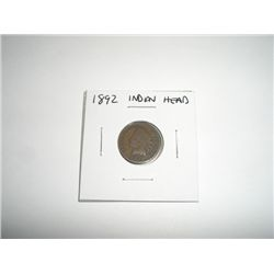 1892 Indian Head Penny *PLEASE LOOK AT PICTURE TO DETERMINE GRADE - NICE COIN*!!