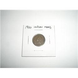 1900 Indian Head Penny *PLEASE LOOK AT PICTURE TO DETERMINE GRADE - NICE COIN*!!