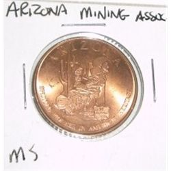 Arizona MINING ASSOCIATION Coin *RARE MS HIGH GRADE ARIZONA COPPER - NICE COIN*!!