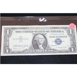 1957-A US Silver Certificate $1, Blue Seal