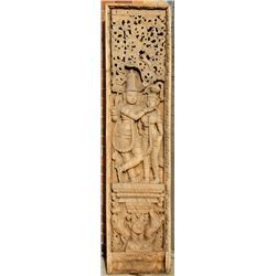 Thai, Teak Relief Woodcarving