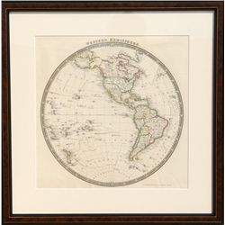John Dower, Map of Western Hemisphere, Engraving
