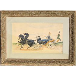 Henri de Toulouse-Lautrec, Horse and Carriage, Lithograph