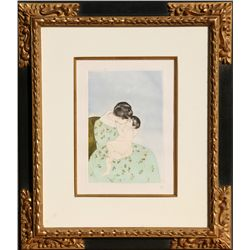 Mary Cassatt, Mother's Kiss, Soft Ground Etching