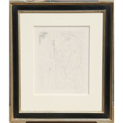 Pablo Picasso, Nude Model and Sculptures, Etching