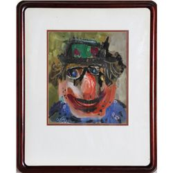 Motke Blum, Clown, Painting