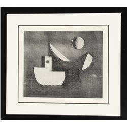 Paul Resika, Abstract Seascape, Etching