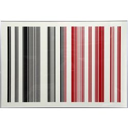 Gene Davis, untitled (Black and Red), Silkscreen
