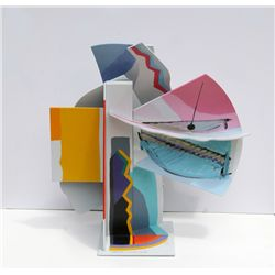 Calman Shemi, Painted Laser Cut Aluminum Sculpture