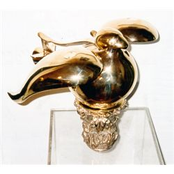 Miguel Berrocal, Paloma Jet (Opus 143), Polished Bronze Puzzle Sculpture
