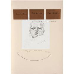 Michelangelo Pistoletto, I Am The Third Series #3, Silkscreen