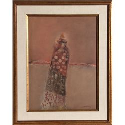 Oscar Raul Martinez, Woman in Shawl, Painting