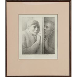 George Tooker, The Voice, Lithograph