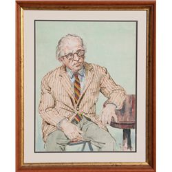 Philip Reisman, Portrait of a Man, Watercolor