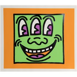 Keith Haring, Icons - Three Eyes, Silkscreen