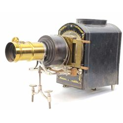 Fine antique electric MacIntosh Sciopticon or Magic Lantern, remains in fine working condition with