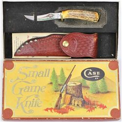 Vintage CaseXX #523 knife with original box, sheath and paperwork. Knife remains in fine condition,