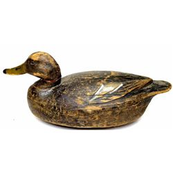 "Vintage decoy attributed to Ben Schmidt with most the original paint, repair to head, 17"" long."