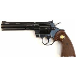 "Colt Python .357 SN 46657E revolver 6"" barrel, blued finish and Colt checkered walnut grips. Shows t"