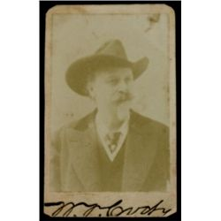 "Original signed cabinet card Buffalo Bill Cody 2 1/2"" X 4"", good condition, corners clipped, guarant"
