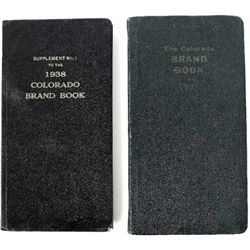 Collection of 2 1938 Colorado brand books the second a supplement to number one. Both remain in fine