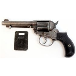 Colt Lightning .38 cal. SN 115953 double action revolver 4 1/2  barrel, backstrap engraved   Wells F
