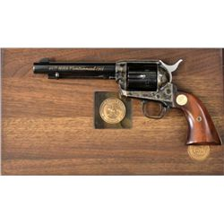 "Colt SA .357 Mag SN NRA5518 revolver with 5 1/2"" barrel, 1871-1971 NRA Centenial with blued and case"