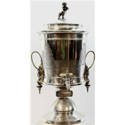 "Impressive 19th C. ice water urn by Reed & Barton, 26"" tall and featured in the Reed & Barton 1885 c"