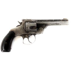 Smith and Wesson .38 S&W SN 447130 revolver 4  barrel blued finish with S&W hard rubber grips. Revol