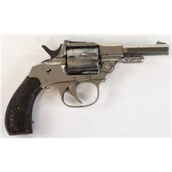 "Maltby Curtis Metropolitan Police .32 rimfire NVSN 3"" octagon barrel, nickel finish and fancy hard r"