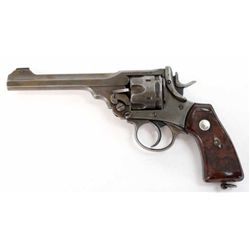 Webley MK VI .45 cal. SN 527086 revolver with 6  barrel, hard rubber checkered grips and lanyard rin