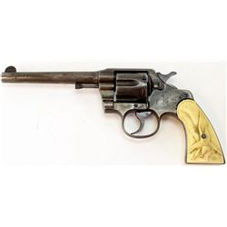 "Colt Army Special .38 cal. SN 316901 double action revolver with 6"" barrel, blued finish and faux iv"