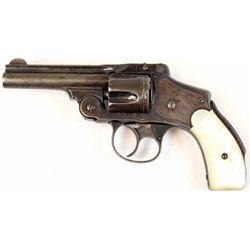 "S&W Safety Hammerless .38 S&W SN 131678 double action revolver 3 1/4"" barrel blued finish, great mot"